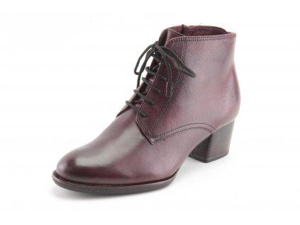 Dámské boty Tamaris DZ 1-25112/25 kožené (Barva bordó, Velikost 42)