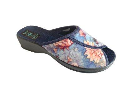 Dámské pantofle Adanex DD 23417 (Barva kytička, Velikost 41)