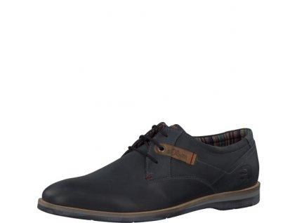 Pánská obuv s.Oliver PC 5-13200-35 kožené AKCE (Barva černá, Velikost 44)