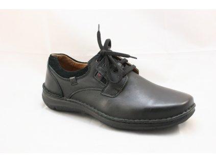 Pánská kotníčková obuv JOSEF SEIBEL 43390 (Barva černá, Velikost 47)