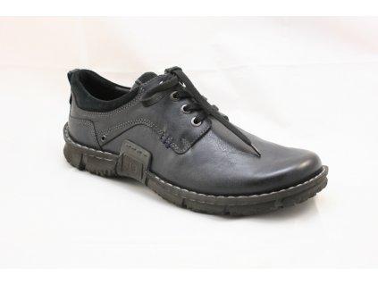 Pánská kožená obuv JOSEF SEIBEL 14152 (Barva černá, Velikost 45)