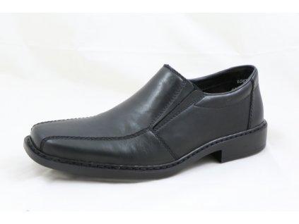 Pánská kožená polobotka Rieker B0872-00 (Barva černá, Velikost 47)
