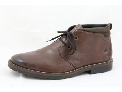 Pánská zimní kožená obuv Rieker 35324-25 (Barva hnědá, Velikost 46)