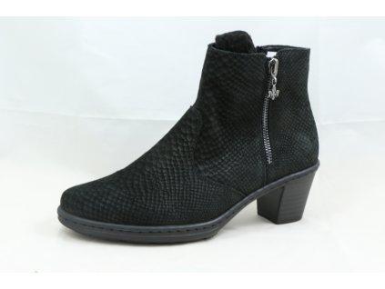 Dámská zimní obuv Rieker 74951-00 (Barva černá, Velikost 36)