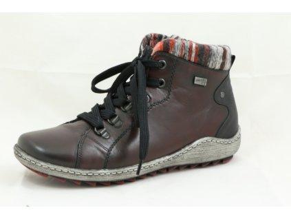 Dámská vycházková obuv Rieker R1473-35 (Barva červená, Velikost 43)