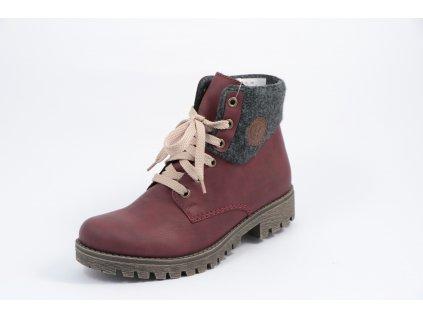 Dámská obuv Rieker 78516-35 (Barva červená, Velikost 43)