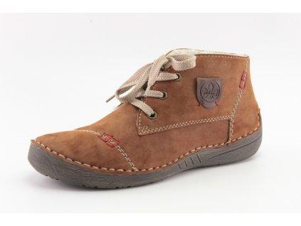 Dámská obuv zimní Rieker 52530-24 hnědé (Barva hnědá, Velikost 42)