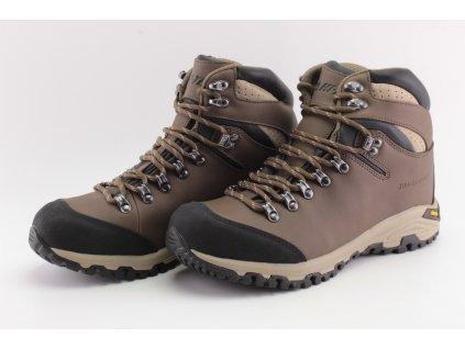 Pánské boty HITEC SAJAMA MID WP kožené (Barva hnědá, Velikost 46)