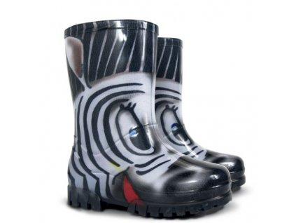 Dětské holinky Demar S Zebra 20-27 (Barva černá, Velikost 25)