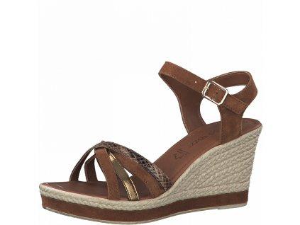 Dámská obuv letní - klínová Marco Tozzi DL 2-28346/26 hnědá