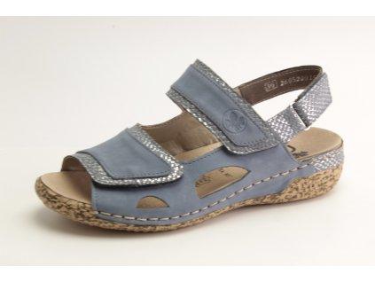 Dámská obuv letní  Rieker DL V7284-14 kožená