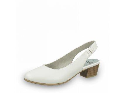 Dámská obuv s volnou patou Jana DC 8-29561/26 bílá