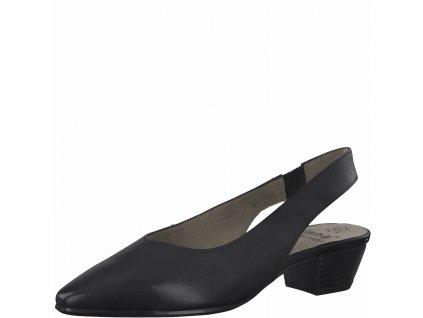 Dámská obuv kožená s volnou patou Jana DC 8-29500/26 černá