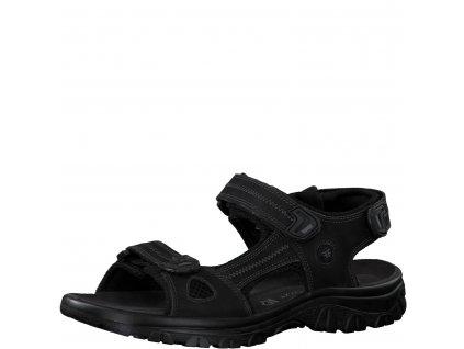 Pánské sandály Marco Tozzi PL 2-18400/24 kožené černé AKCE