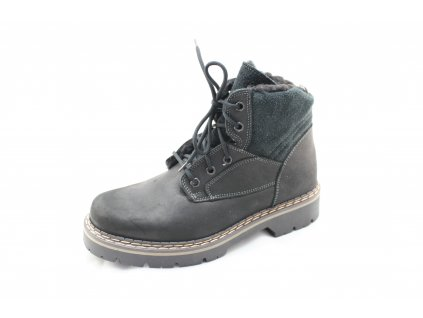Pánské zimní boty G496Z62 AKCE (Barva černá, Velikost 46)