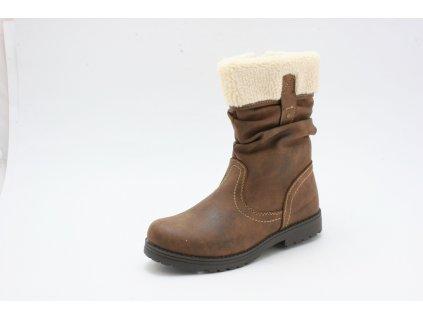 Dětské boty BX7A370-2-2 (Barva hnědá, Velikost 34)