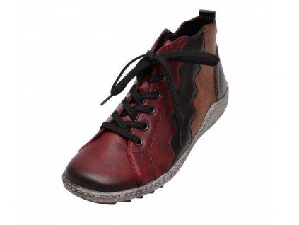 Dámské kotníkové boty Rieker R1474-35 (Barva červená, Velikost 42)