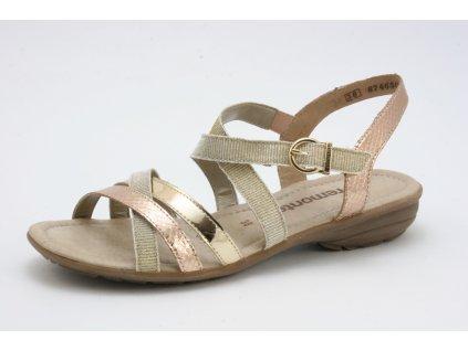 Dámské sandály Rieker R3631-90 (Barva zlatá, Velikost 41)