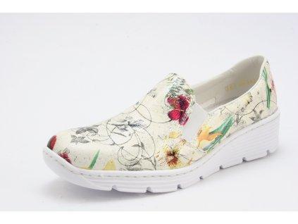 Dámská obuv Rieker 58766-90 AKCE (Barva kytička, Velikost 41)