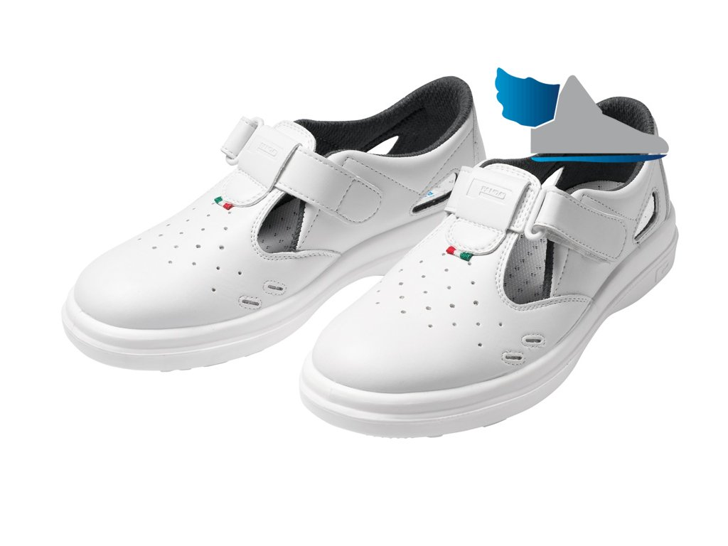 Biele bezpečnostné sandále SANITARY LYBRA S1 SRC