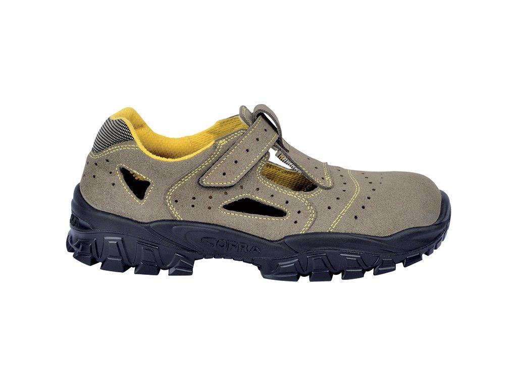 5800c4c3dacd1 Pracovné sandále s ochrannou špičkou COFRA NEW BRENTA S1 P SRC : TALIANSKÁ  VÝROBA