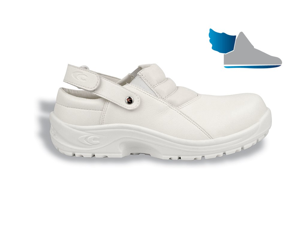 Biele pracovné sandále ANCUS SB E A FO SRC