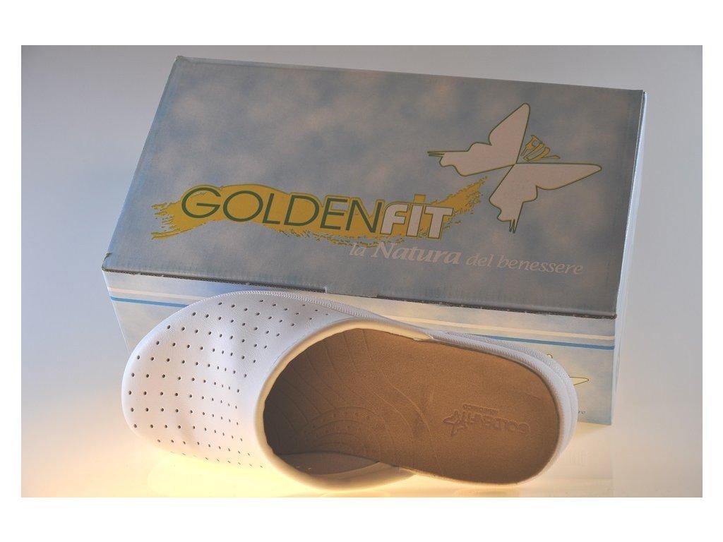 6482fade32bc ... biele kožené šľapky Taruca s balením obuvi