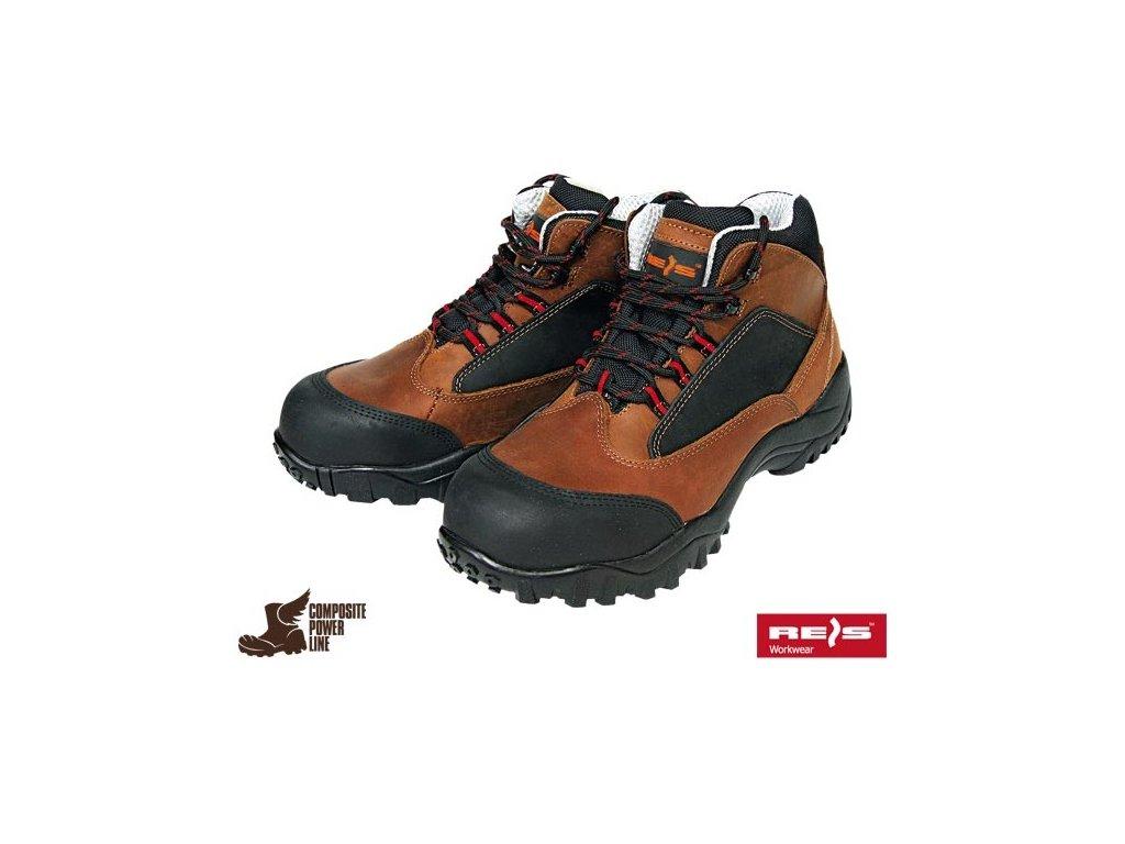 Celoročná pracovná členková obuv značky REIS kategórie S3 HRO SRC