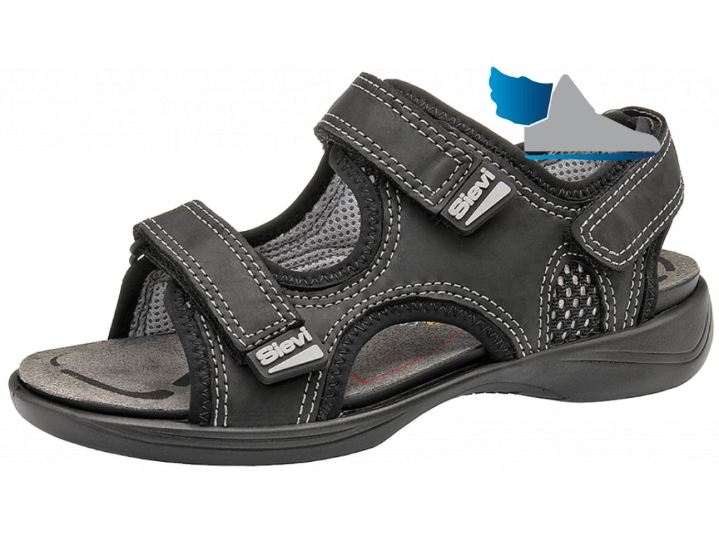 Pracovné ESD sandále špičkovej kvality ION BLACK