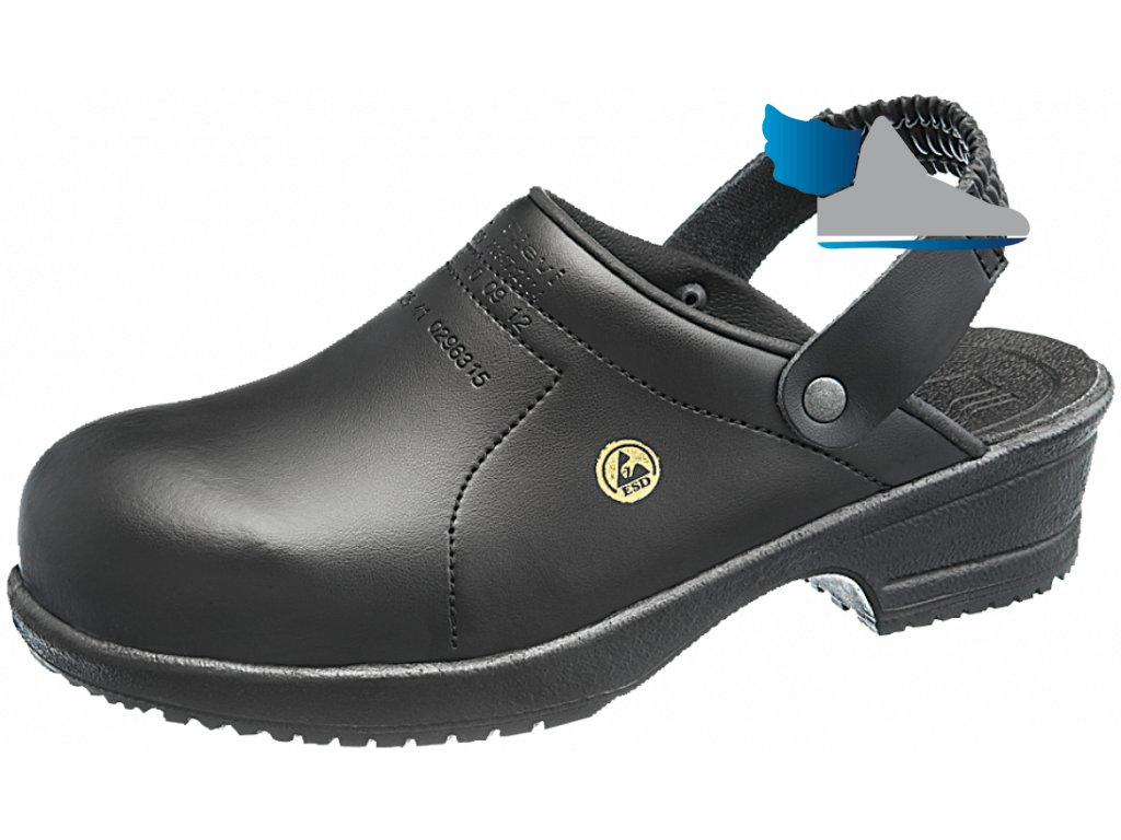 Dámske čierne ESD sandále FILE BLACK
