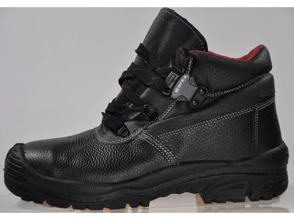 3edf6f86bda9 ... pracovná obuv s oceľovou špičkou S3 COFRA model LHASA detailný bočný  pohľad ...