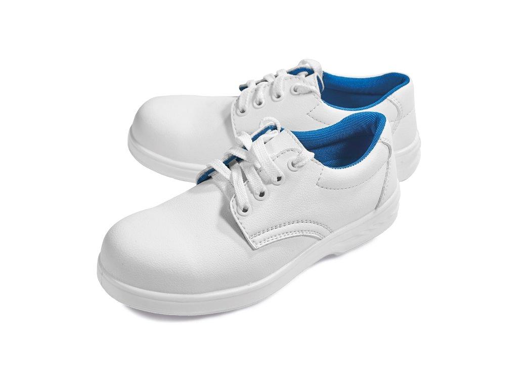 Biela bezpečnostná obuv so špičkou RAVEN WHITE LOW S2