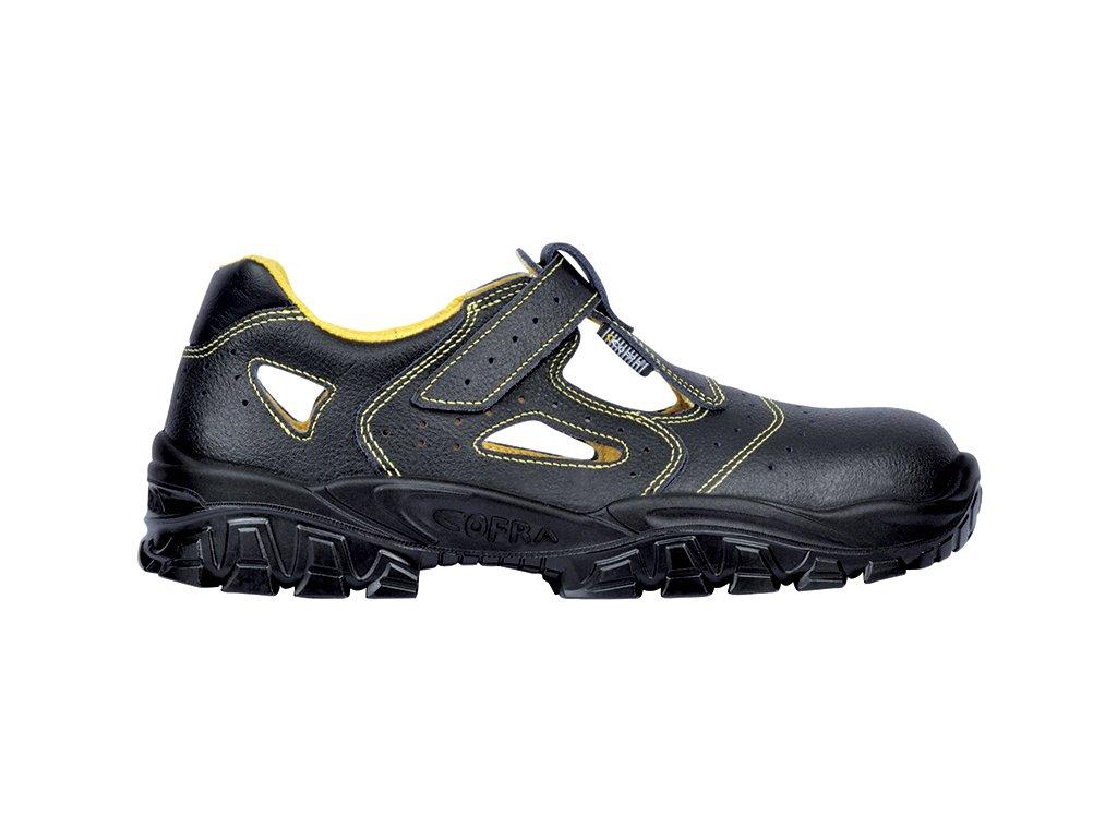 662a2138741fd Pracovné sandále s bezpečnostnou špičkou talianskeho výrobcu COFRA NEW DON  S1 P SRC