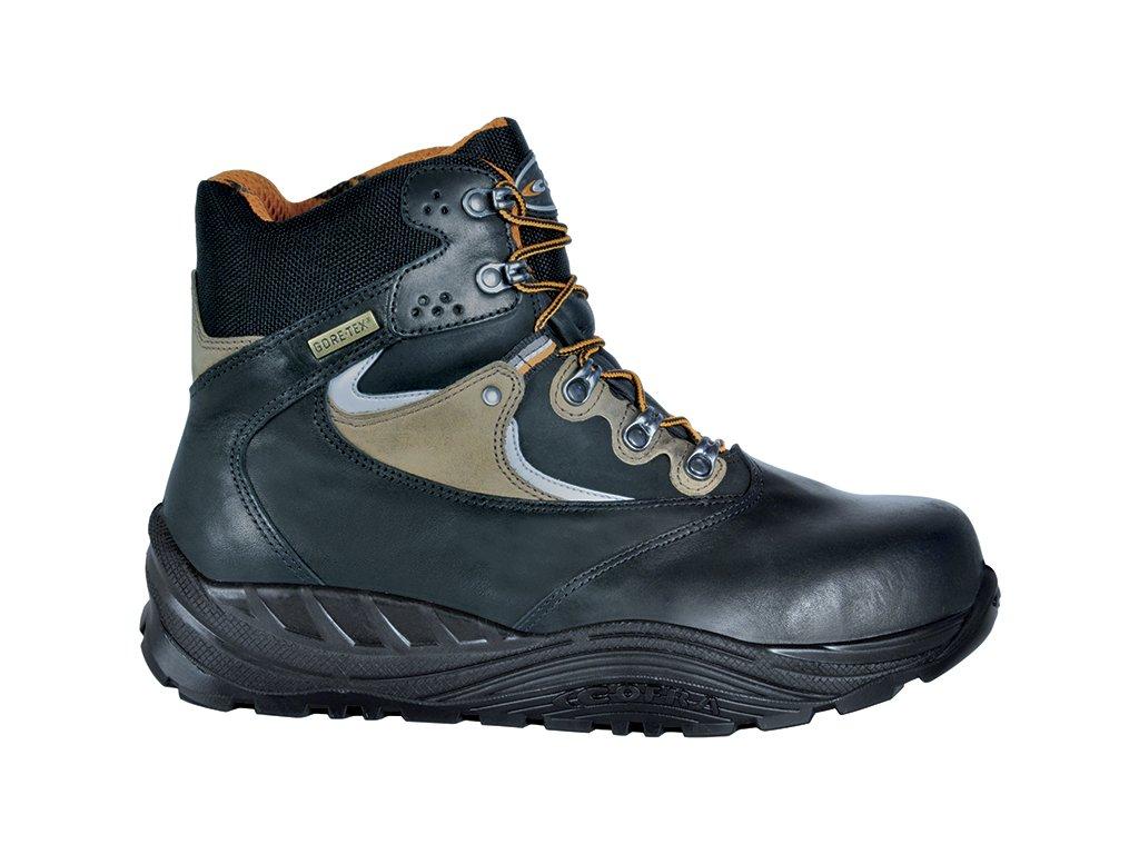 88f6d64021f1 Zimná členková pracovná obuv s odľahčenou plastovou bezpečnostnou špičkou a planžetou  proti prepichnutiu podrážky COFRA DHANU