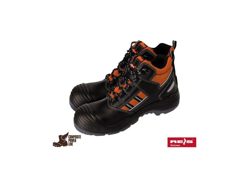Celoročná pracovná členková obuv značky REIS kategórie S1P SRC