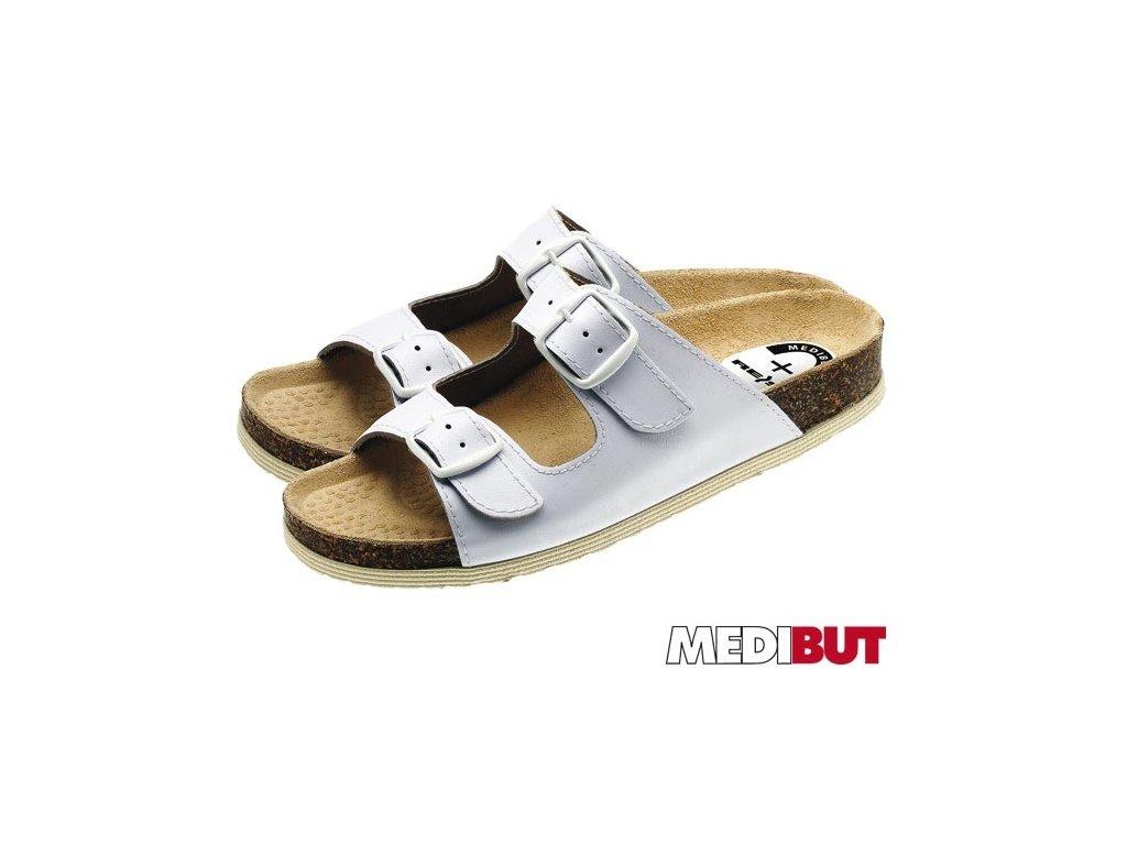 Pracovná obuv biela MEDIBUT : BMKLAKOR2PAS W 40