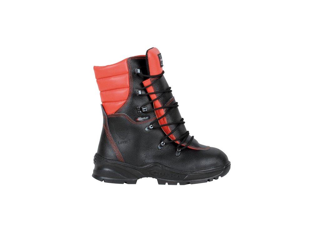 Pilčícka bezpečnostná kožená obuv s ochranou proti porezu z vodoodpudivej kože COFRA FORCE A E P FO WRU HRO SRC : TALIANSKÁ VÝROBA