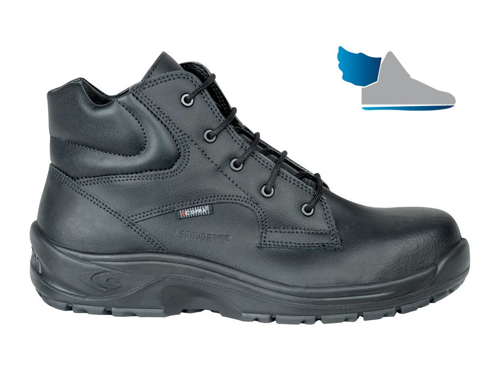 d3a536845a4ed čierna bezpečnostná obuv s plastovou špičkou CALIGOLA BLACK S2 SRC