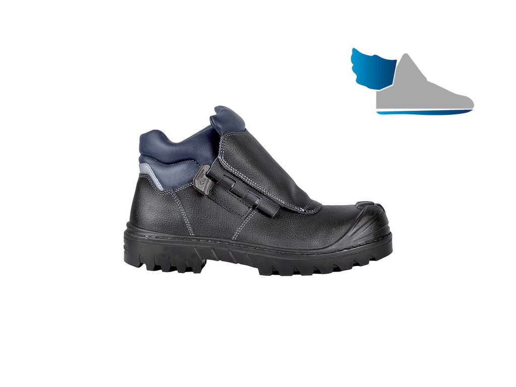 01b1a1f82522 Bezpečnostná obuv pre zvárača s odľahčenou kompozitnou špičkou a planžetou  proti prierazu SOLDER BIS UK S3