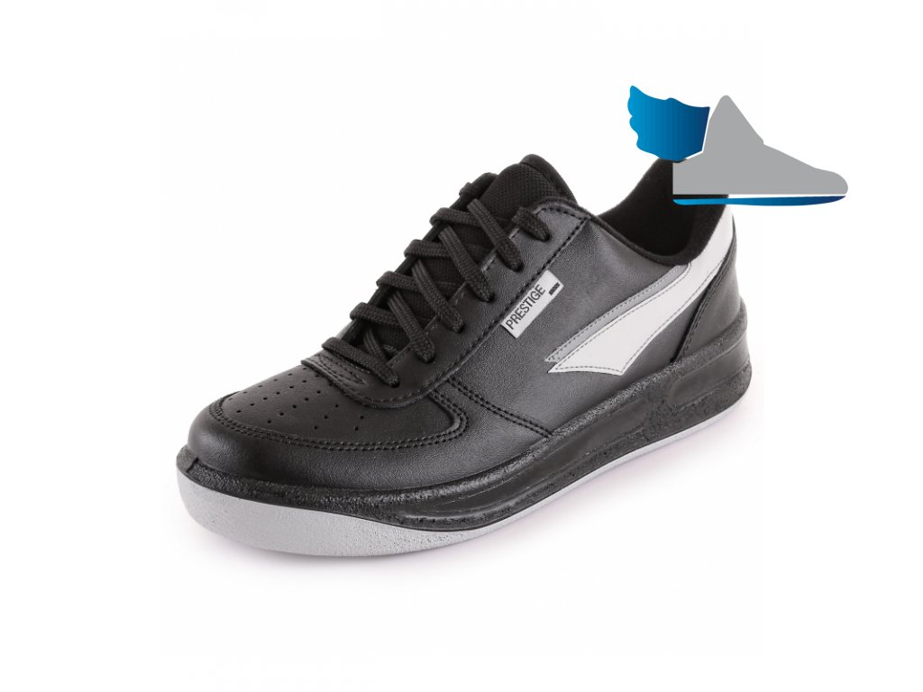 Čierne štýlové športové poltopánky PRESTIGE M86808