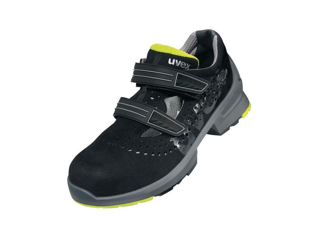 Pracovné sandále UVEX 8542 S1 SRC s odľahčenou bezpečnostnou špičkou a protišmykovou podrážkou.