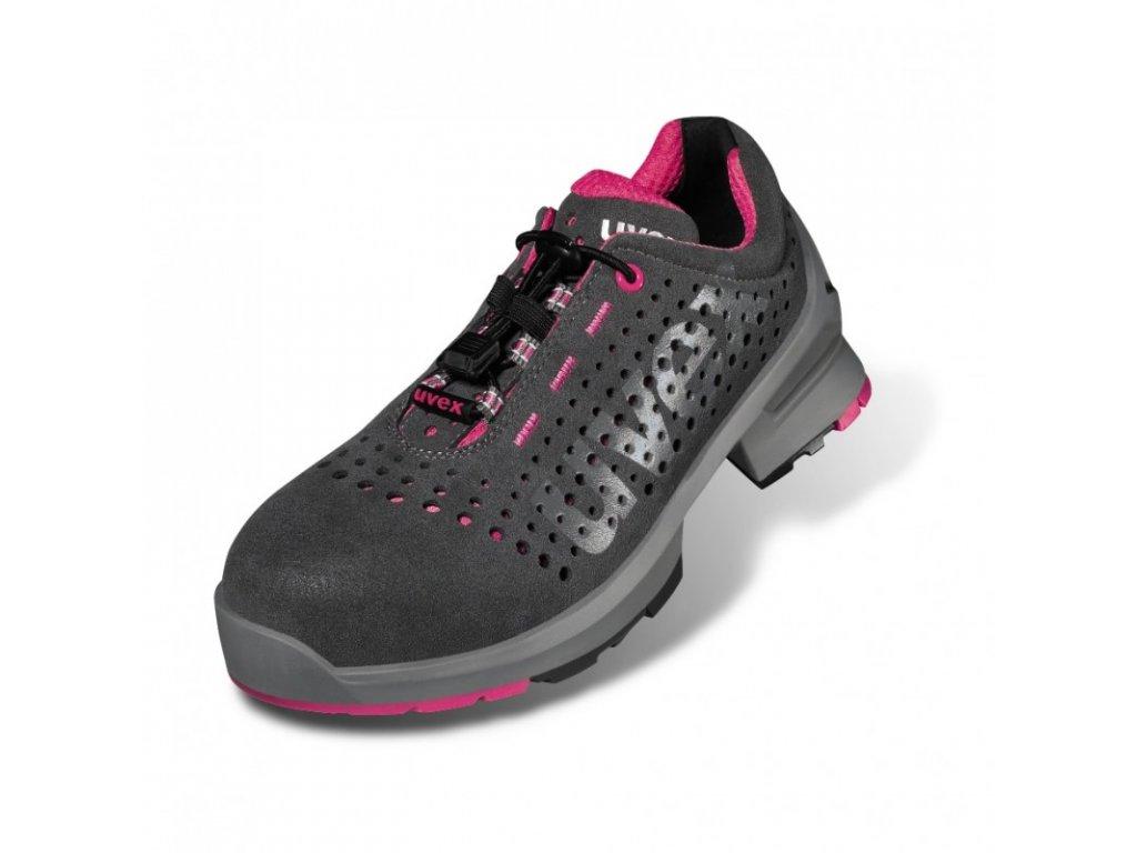 Dámska pracovná obuv s bezpečnostnou špičkou a protišmykovou podrážkou UVEX 8561 S1 SRC