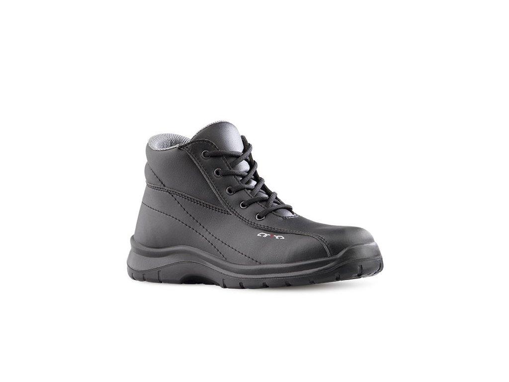 Čierna členková pracovná obuv bez oceľovej špičky ARZAWA 641 6660 O2 FO SRC