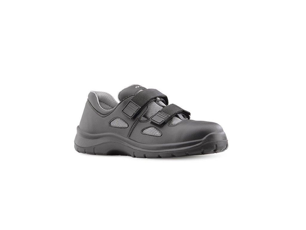 Čierne bezpečnostné sandále s oceľovou špičkou ARIES 8006 6660 S1 SRC
