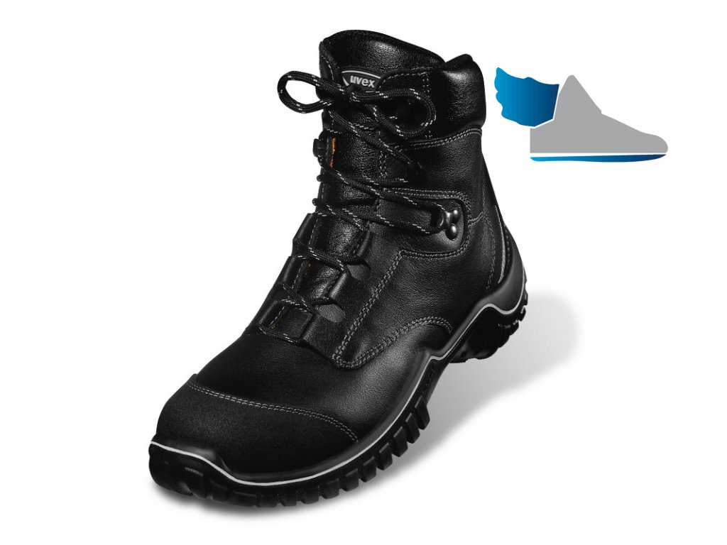 Vysoká šnúrovacia bezpečnostná obuv s oceľovou špičkou UVEX 6986 S2 SRC