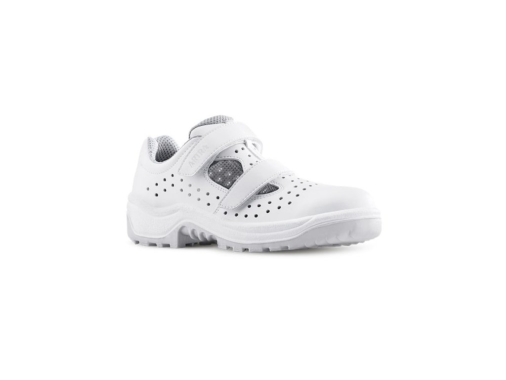 Biele bezpečnostné sandále s oceľovou špičkou  ARMON  905 1010 S1 SRC