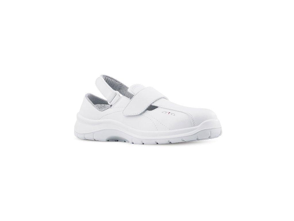 ccc310647262 Biele pracovné sandále ARIA 604 1010 OB A E FO SRC