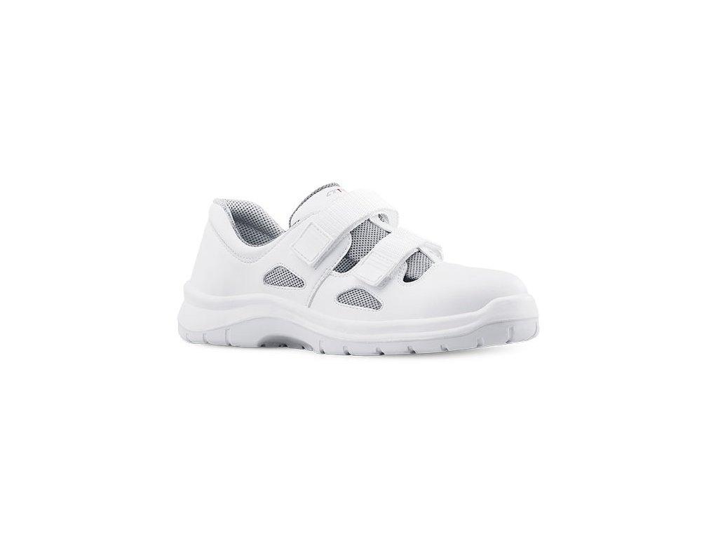 Biele bezpečnostné sandále s oceľovou špičkou  ARIES  8006 1010 S1 SRC