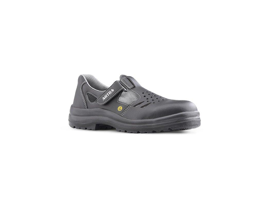 15bdae6859f1 Bezpečnostné ESD sandále s oceľovou špičkou ARMEN 9008 6660 S1 ESD SRC