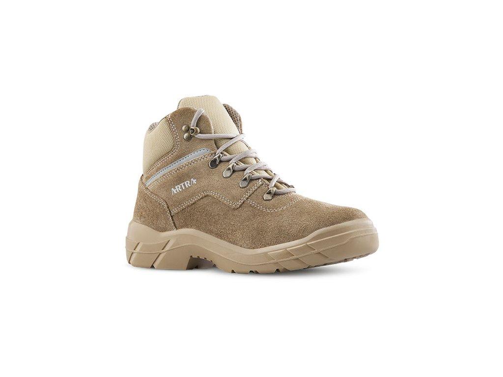 Pracovná obuv bez oceľovej špičky pieskovej farby ARLES 947 8288 O1 FO SRC